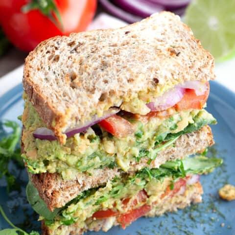 Healthy Chickpea Avocado Sandwich