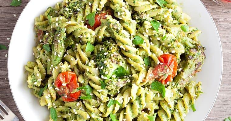 vegan-pesto-pasta-featured