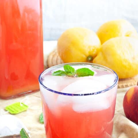 Refreshing Peach Green Tea Lemonade
