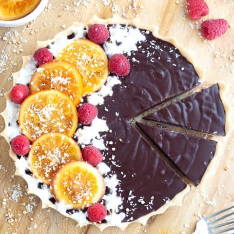 Easy Chocolate Orange Tart