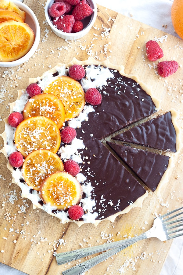 Easy Chocolate Orange Tart