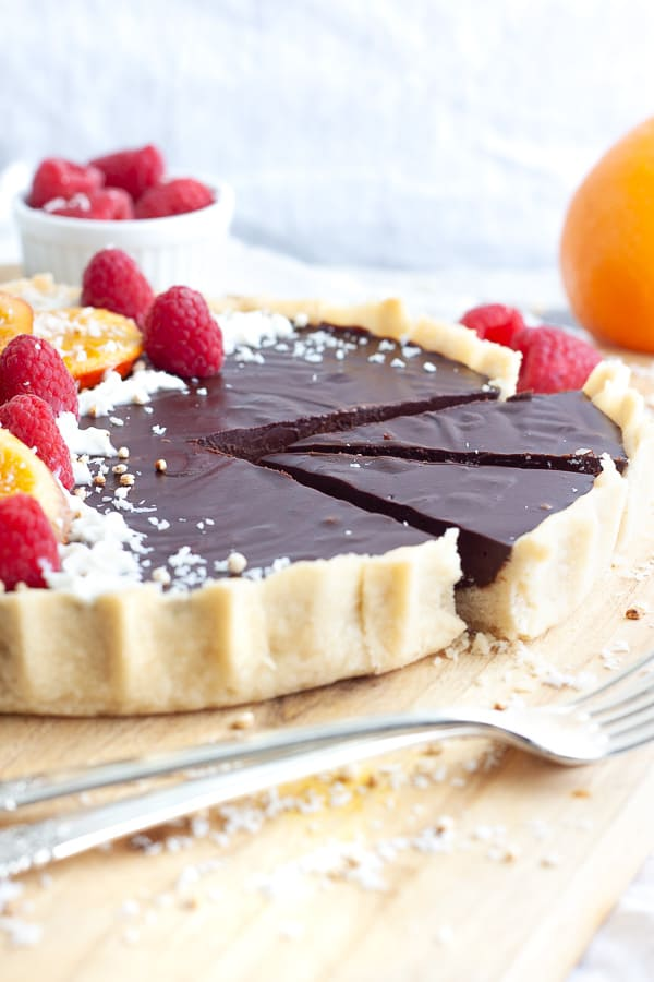 Simple Chocolate Orange Tart
