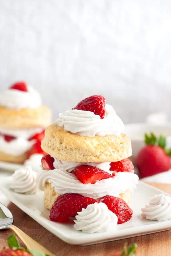 Simple Vegan Strawberry Shortcake
