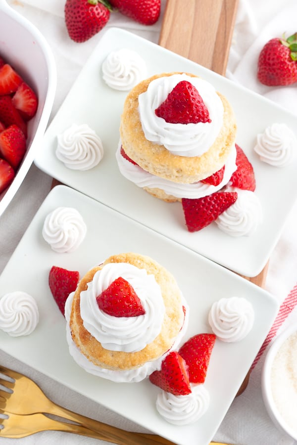 Quick Vegan Strawberry Shortcake