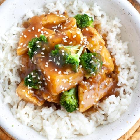 Vegetarian Orange Tofu