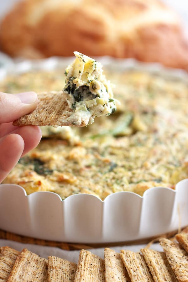 Healthy Vegan Spinach Artichoke Dip