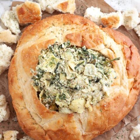 Spinach Artichoke Bread Bowl