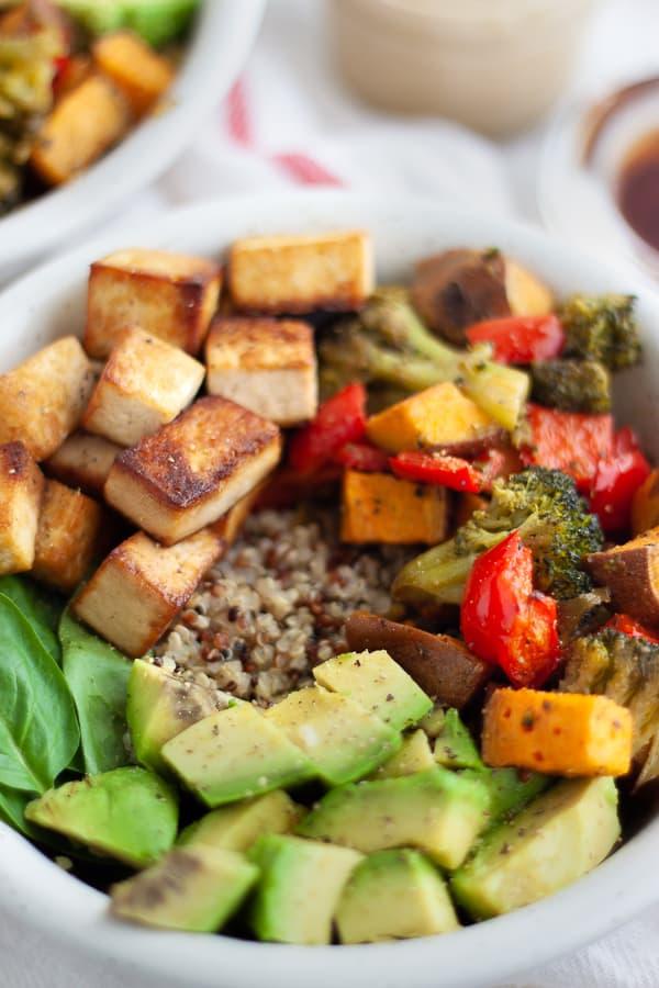 Baked Tofu Bowl