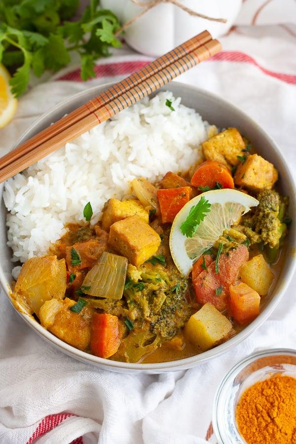 Vegan Tofu Curry
