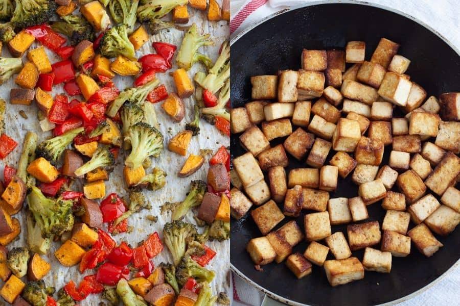 Sesame Tofu Veggies