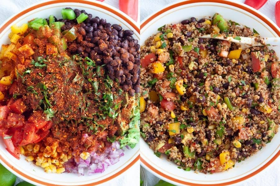 Vegan Southwest Quinoa Ingredients