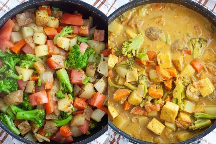 Vegan Yellow Curry Ingredients