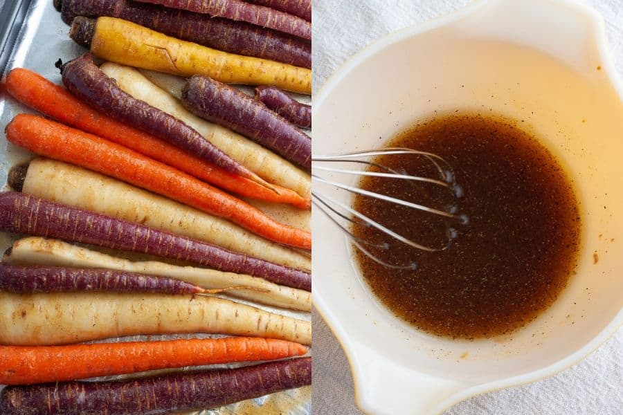 Roasted carrots Sauce