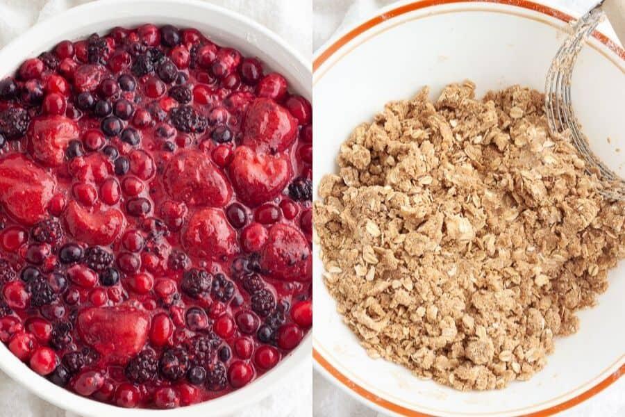 Vegan Berry Crisp Ingredients