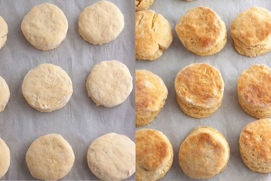 Vegan Buttermilk Biscuits Baked