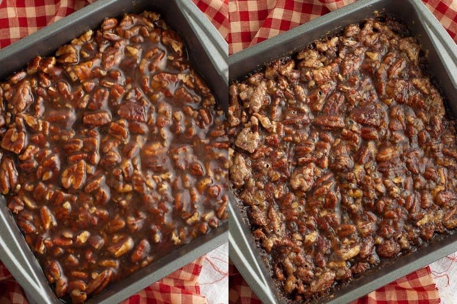 Vegan Pecan Pie Bars Baked