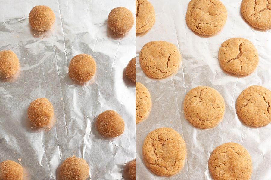 Vegan Snickerdoodle Cookies Baked