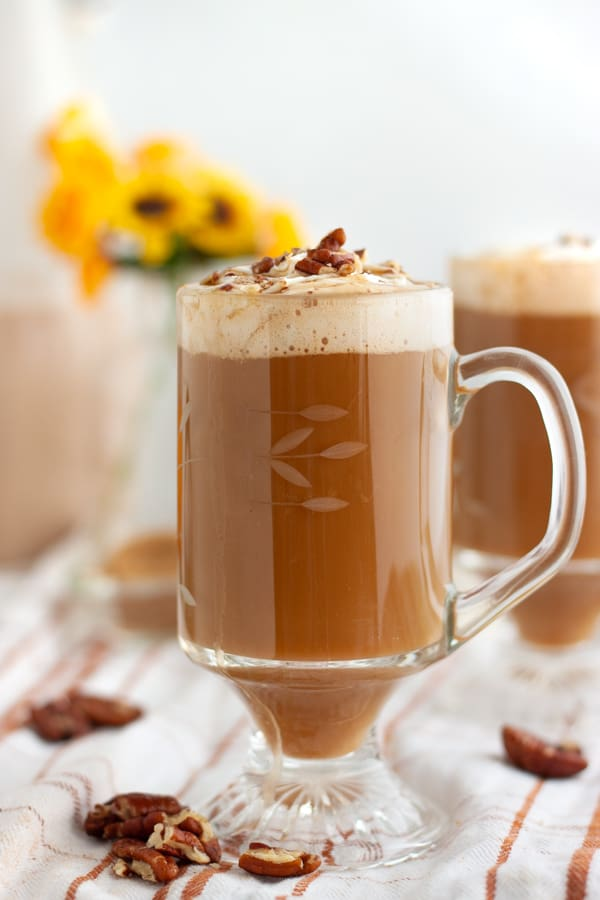 Pecan Milk and Caramel Latte