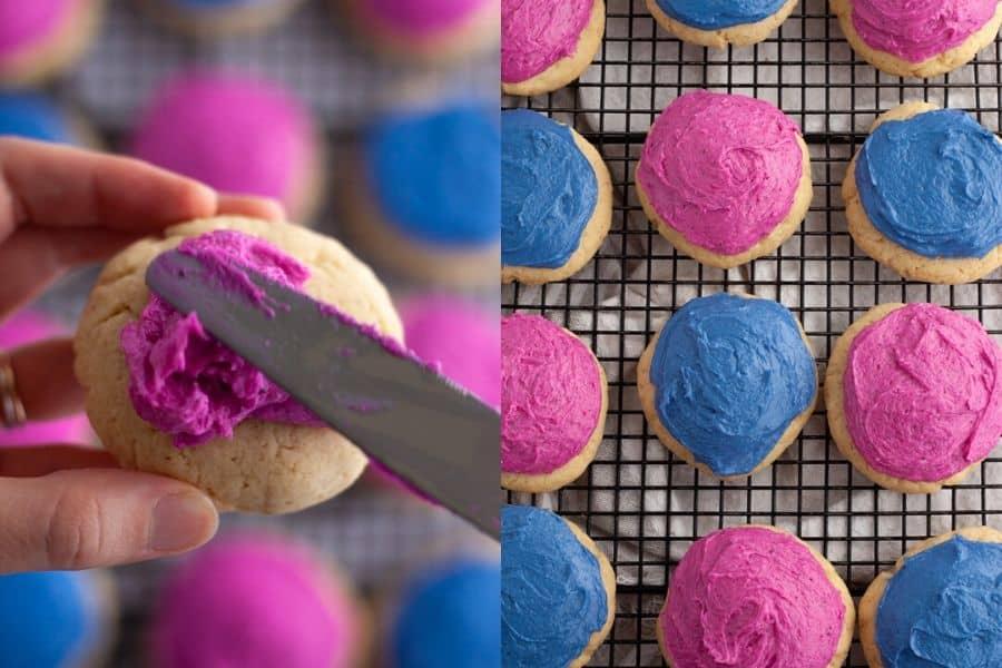 Frosted Vegan Sugar Cookies