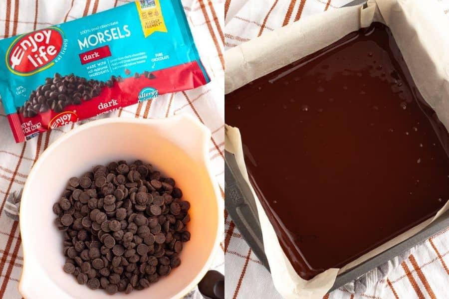 Vegan Peppermint Bark Chocolate
