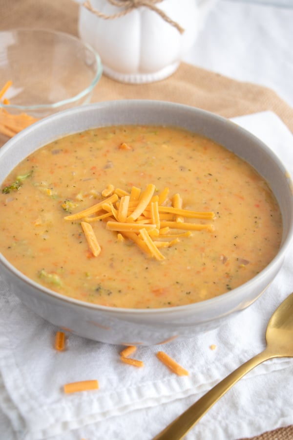 Best Ever Cheddar Soup with Broccoli