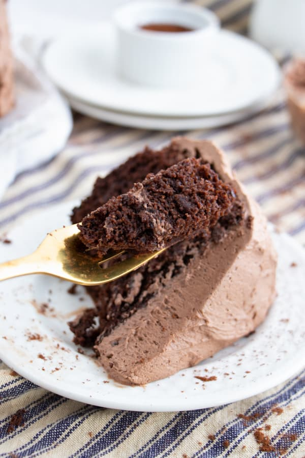 Decadent Dairy Free Chocolate Cake