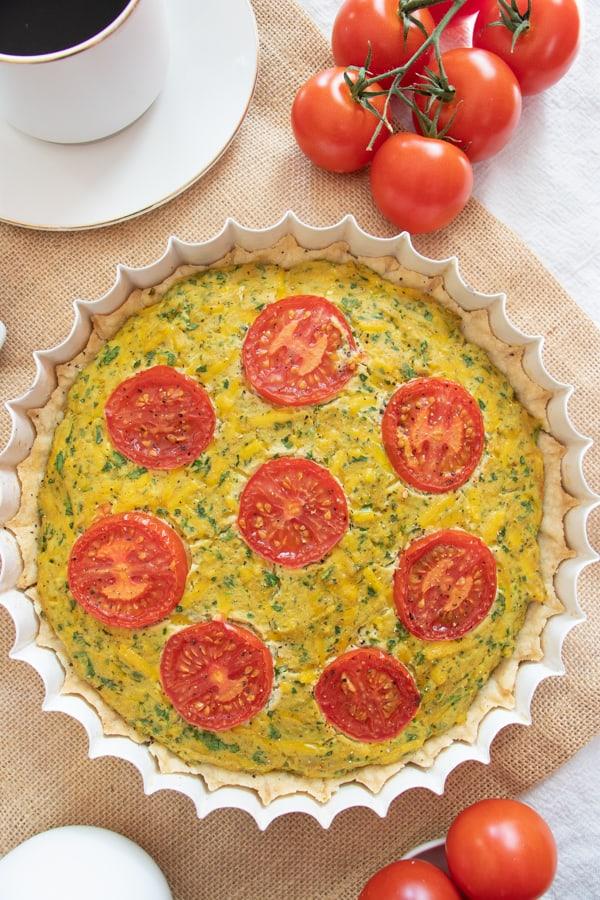 Vegetarian Breakfast Quiche
