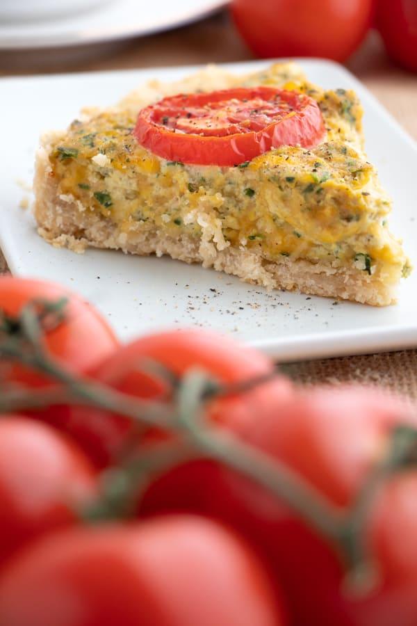Cheese Spinach and Tomato Quiche
