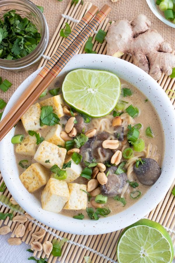 Thai Peanut Vegan Ramen