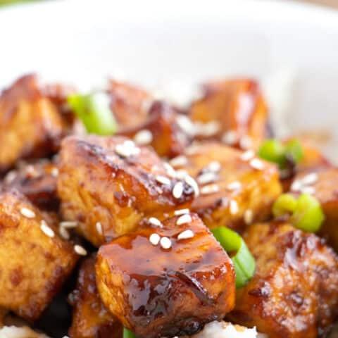 Glazed Teriyaki Tofu
