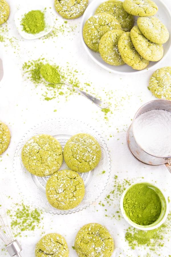 Vegan Matcha Sugar Cookies