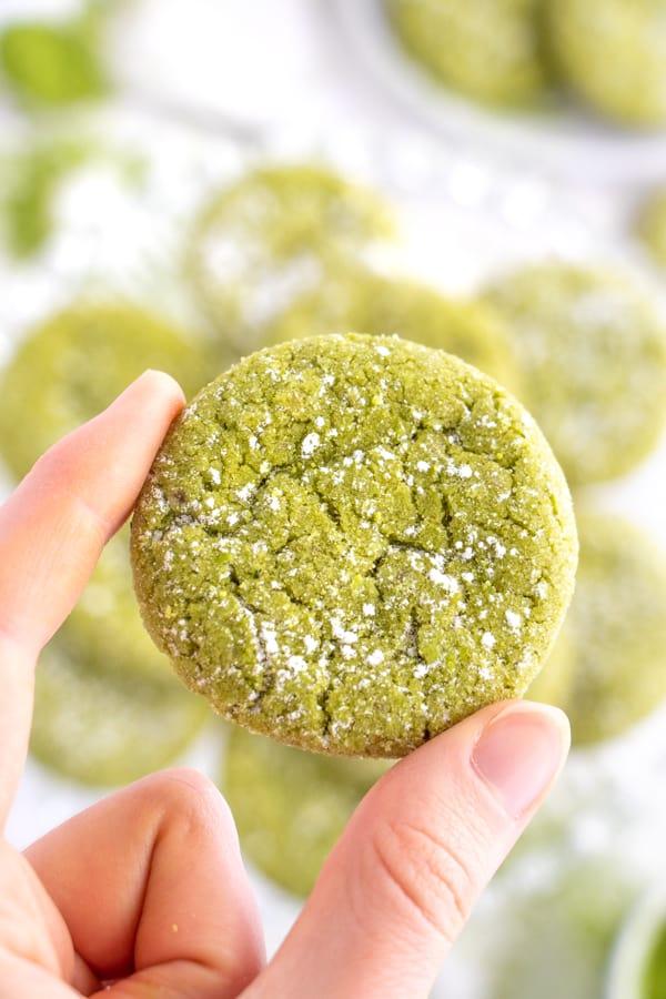 Chewy Matcha Cookies
