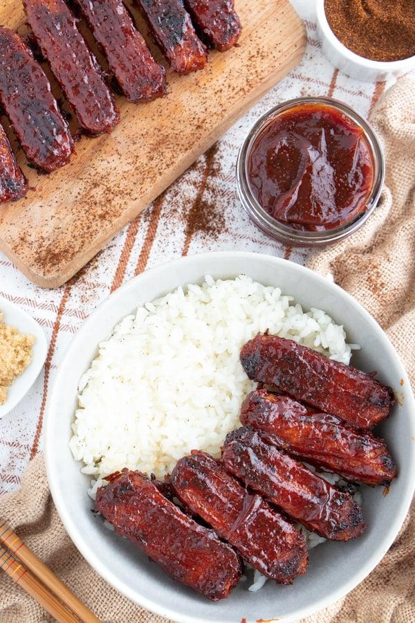 Vegetarian BBQ Ribs