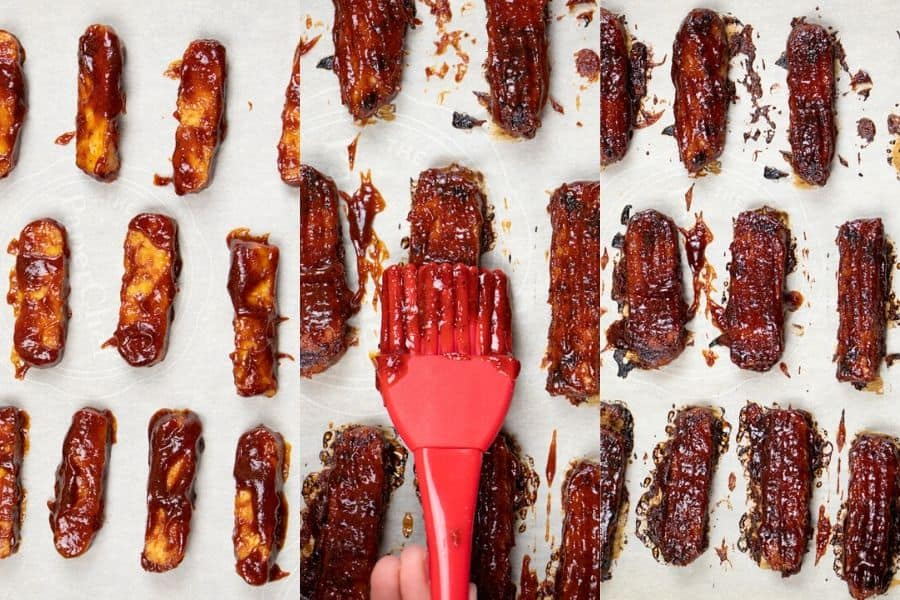 Baked BBQ Tempeh