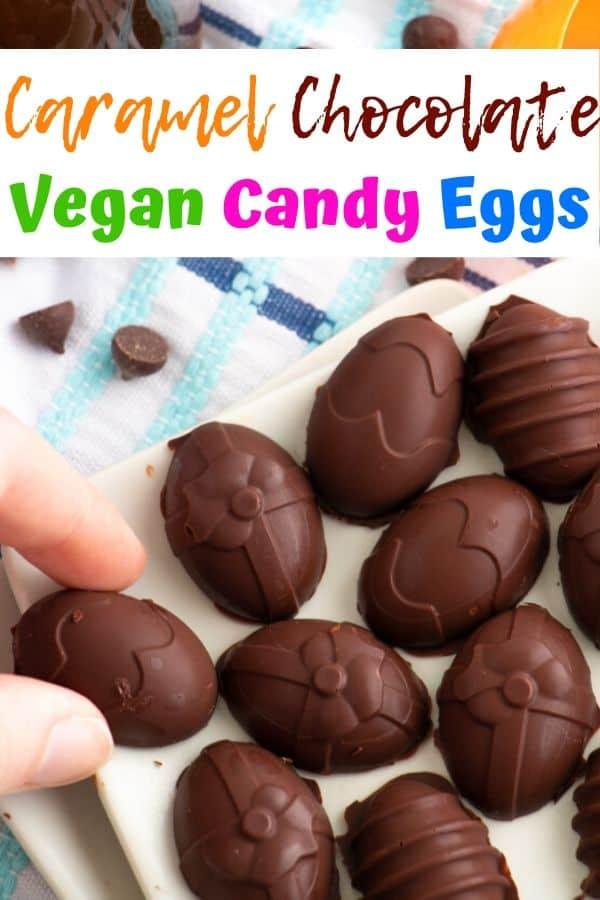 Vegan Caramel Chocolate Eggs