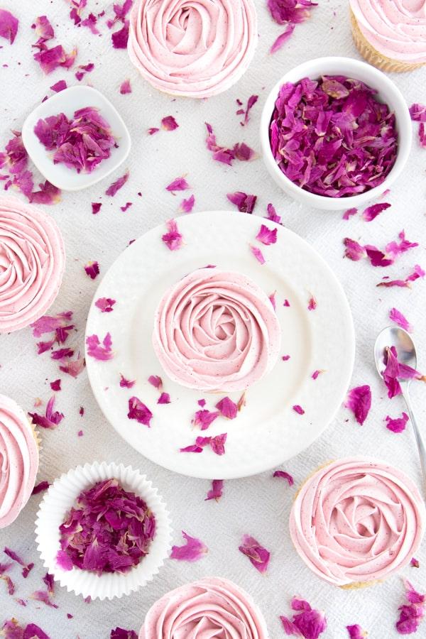 Rose Water Cupcakes
