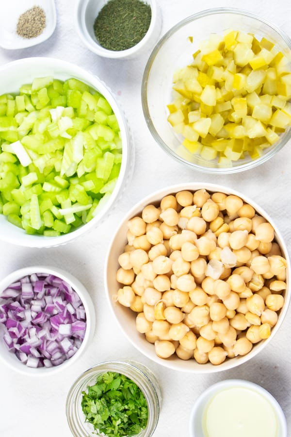 One Bowl Chickpea Salad