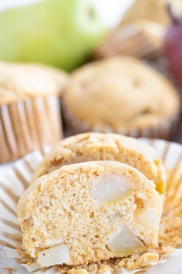 Vegan Ginger Pear Muffins