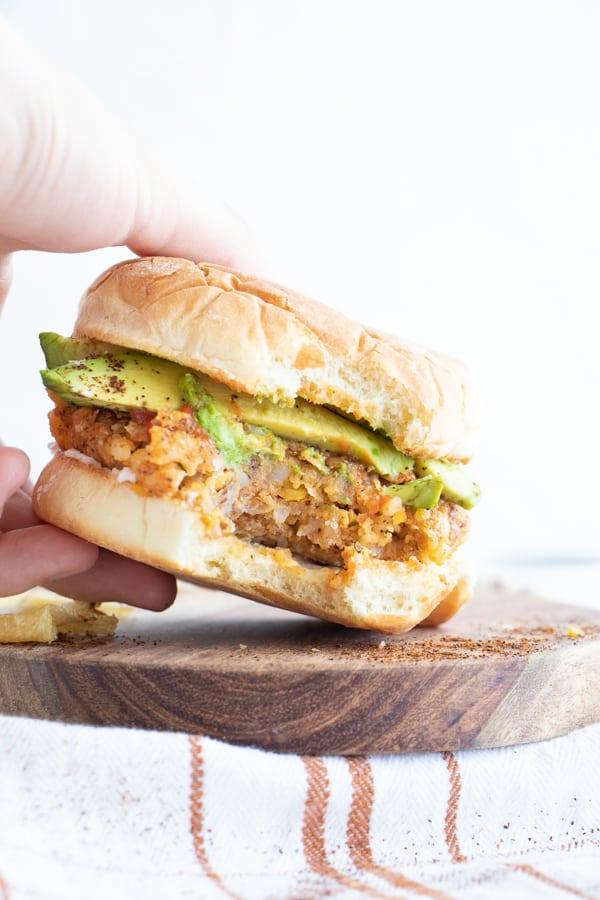 Easiest Vegan Chickpea Burgers