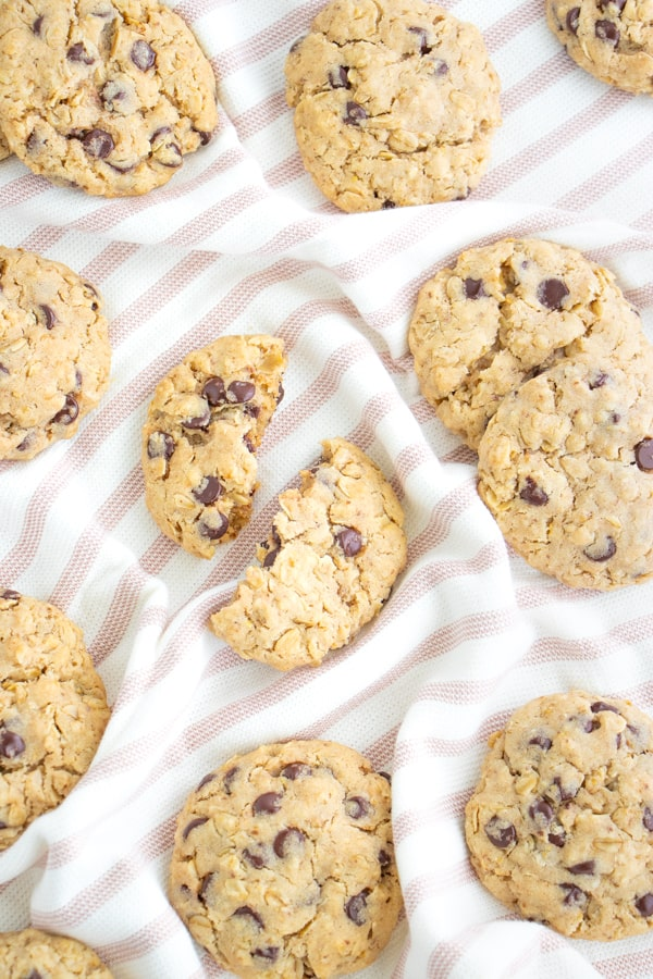 Dairy Free Choc Chip Oatmeal Cookies