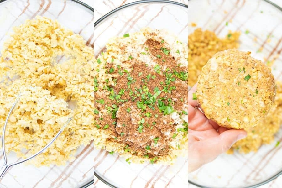 Chickpea Burger Ingredients