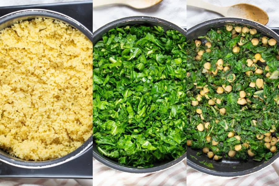 Cooked Chard and Chickpeas