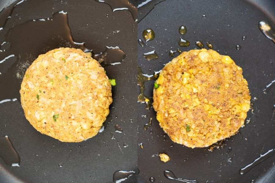 Fried Chickpea Burger