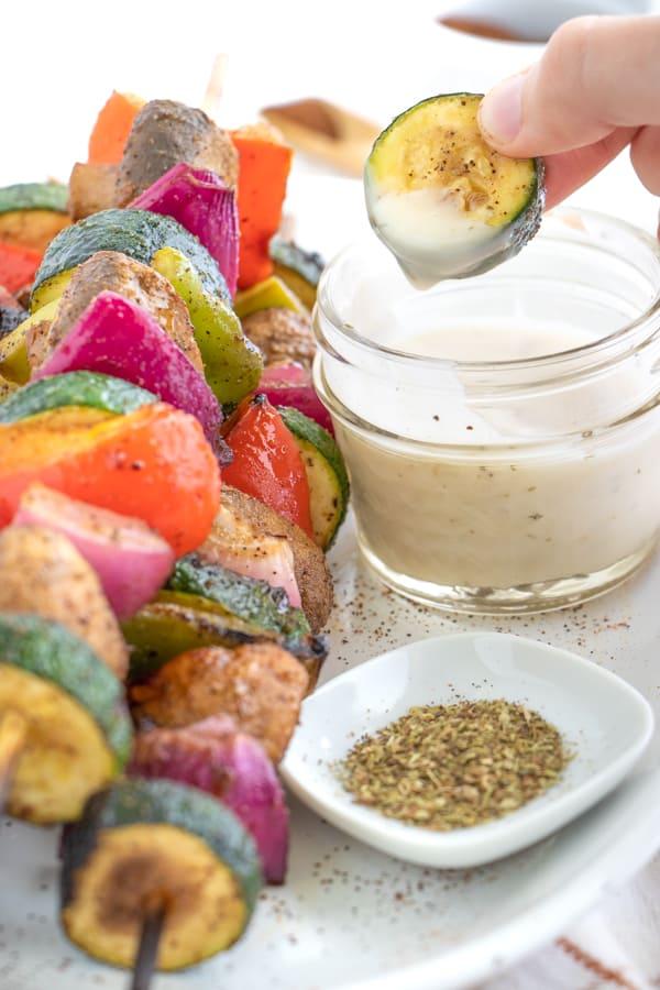 Vegan Veggie Kebabs