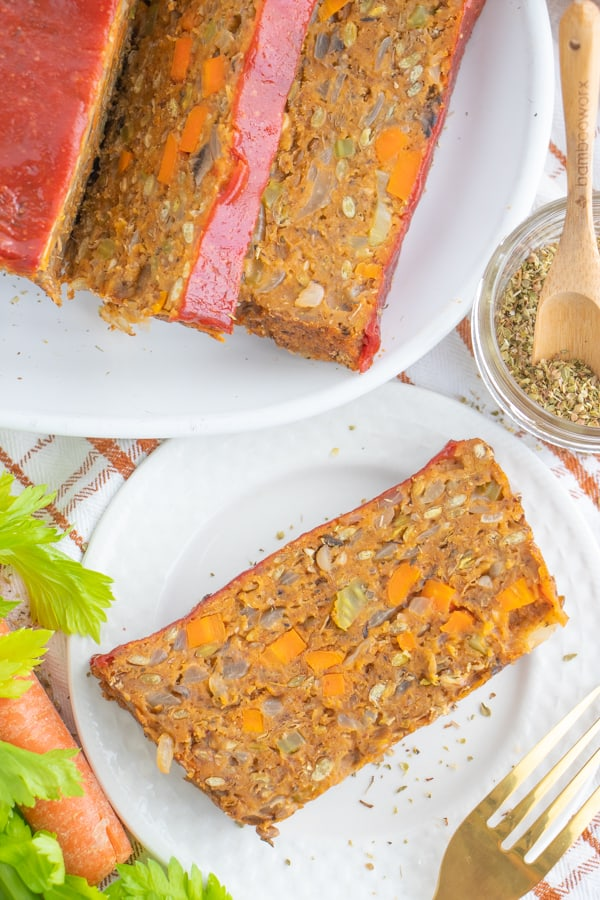 Vegan Vegetable Lentil Loaf