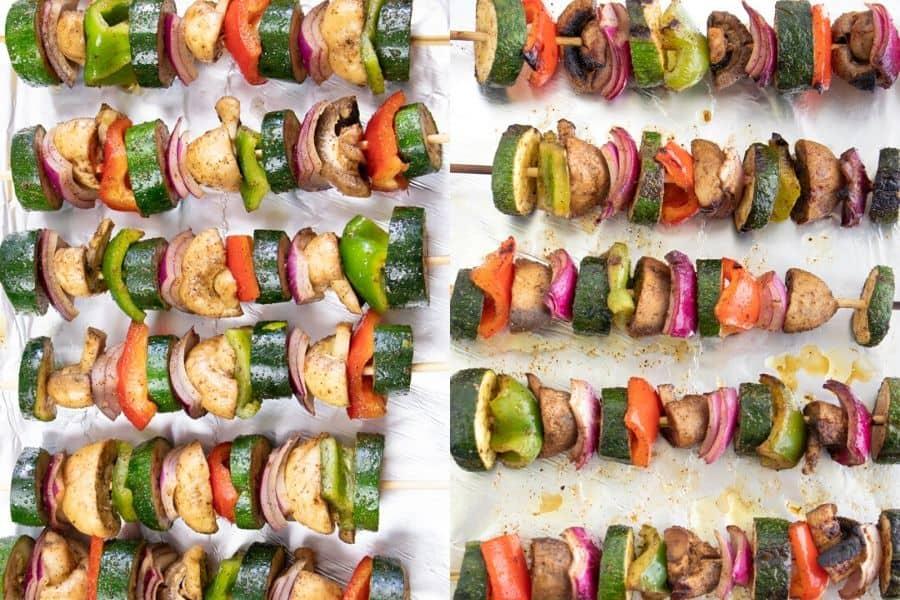 Grilled Veggie Kabobs Skewered