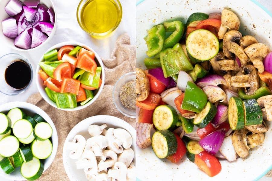 Vegetable Kabobs Ingredients