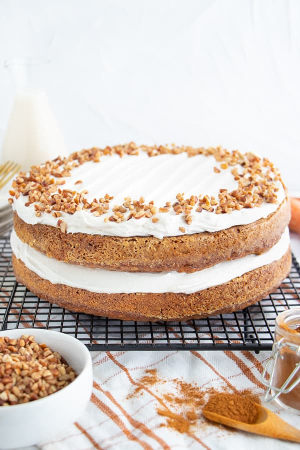 Moist Frosted Carrot Cake