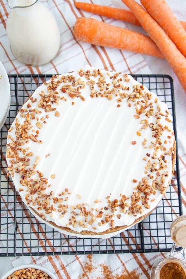 Homemade Vegan Carrot Cake