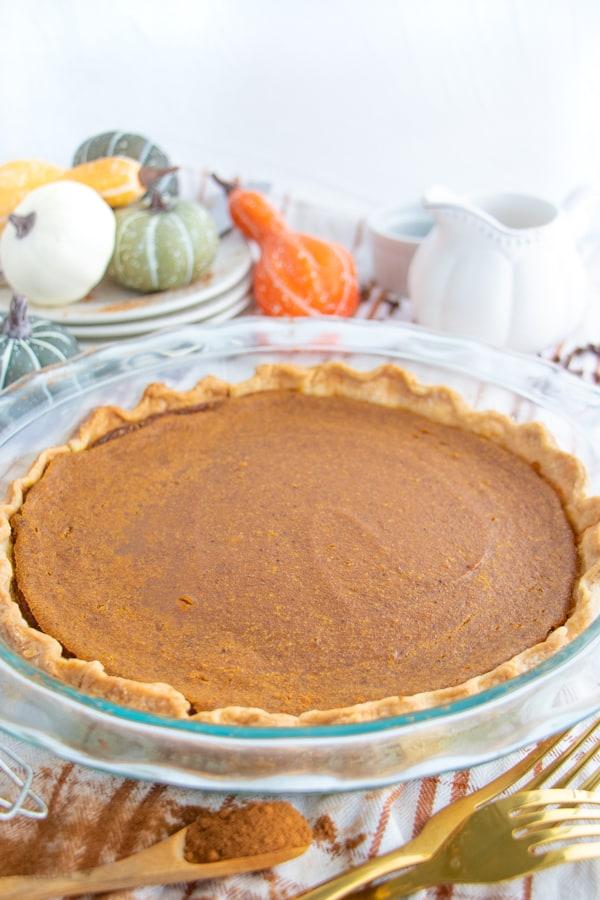 Dairy Free Pumpkin Pie from Scratch